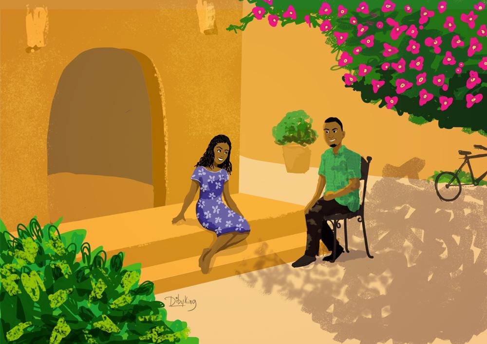 Illustration commissionnée pour The Mymy Project et réalisée par Diby King (@dibyking)