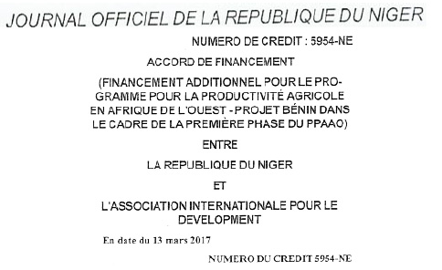 Journal officel Republique Niger
