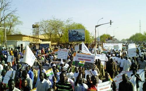 Déclaration de presse de la société civile nigérienne relative à l'appel à manifestation pour soutenir les populations de Diffa et les FDS