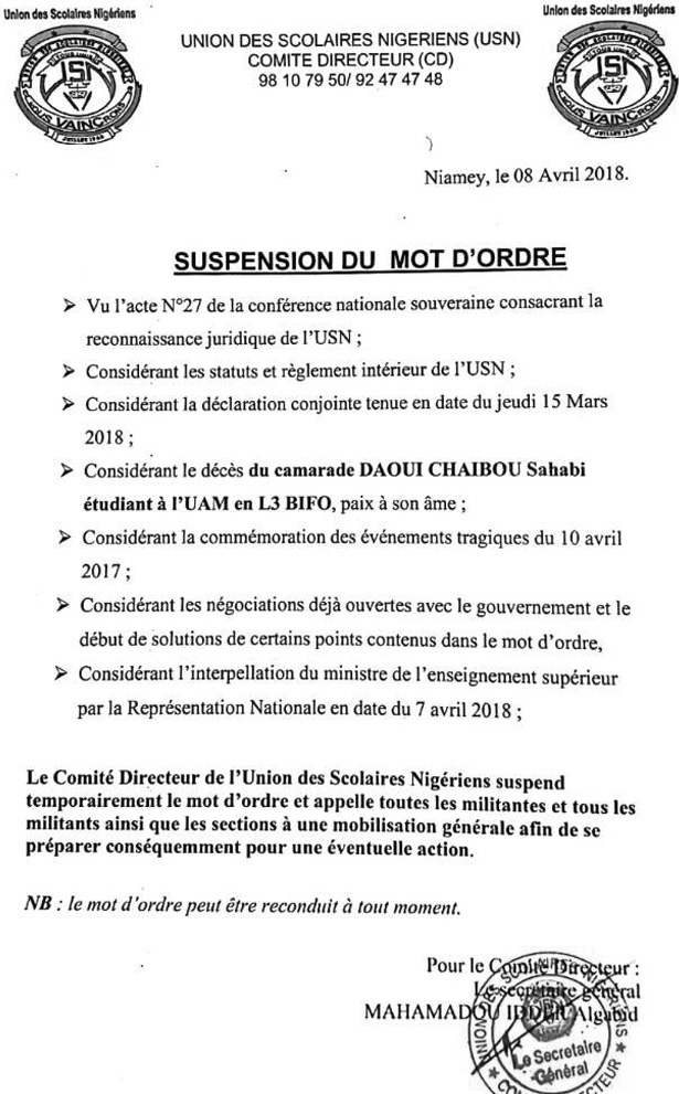 Usn Suspension mot d ordre 08 04 2018