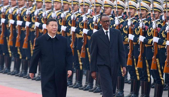 Xi Jiping et Paul Kagame Afrique Chine